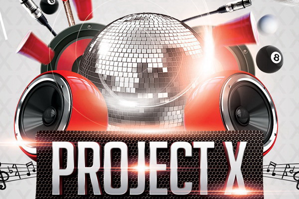 Дизайн плаката Project-X в Night Club Free PSD